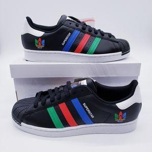 Adidas Originals Superstar Black Green Blue
